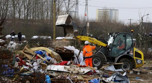Calais - Smantellamento della giungla nella Zona Sud