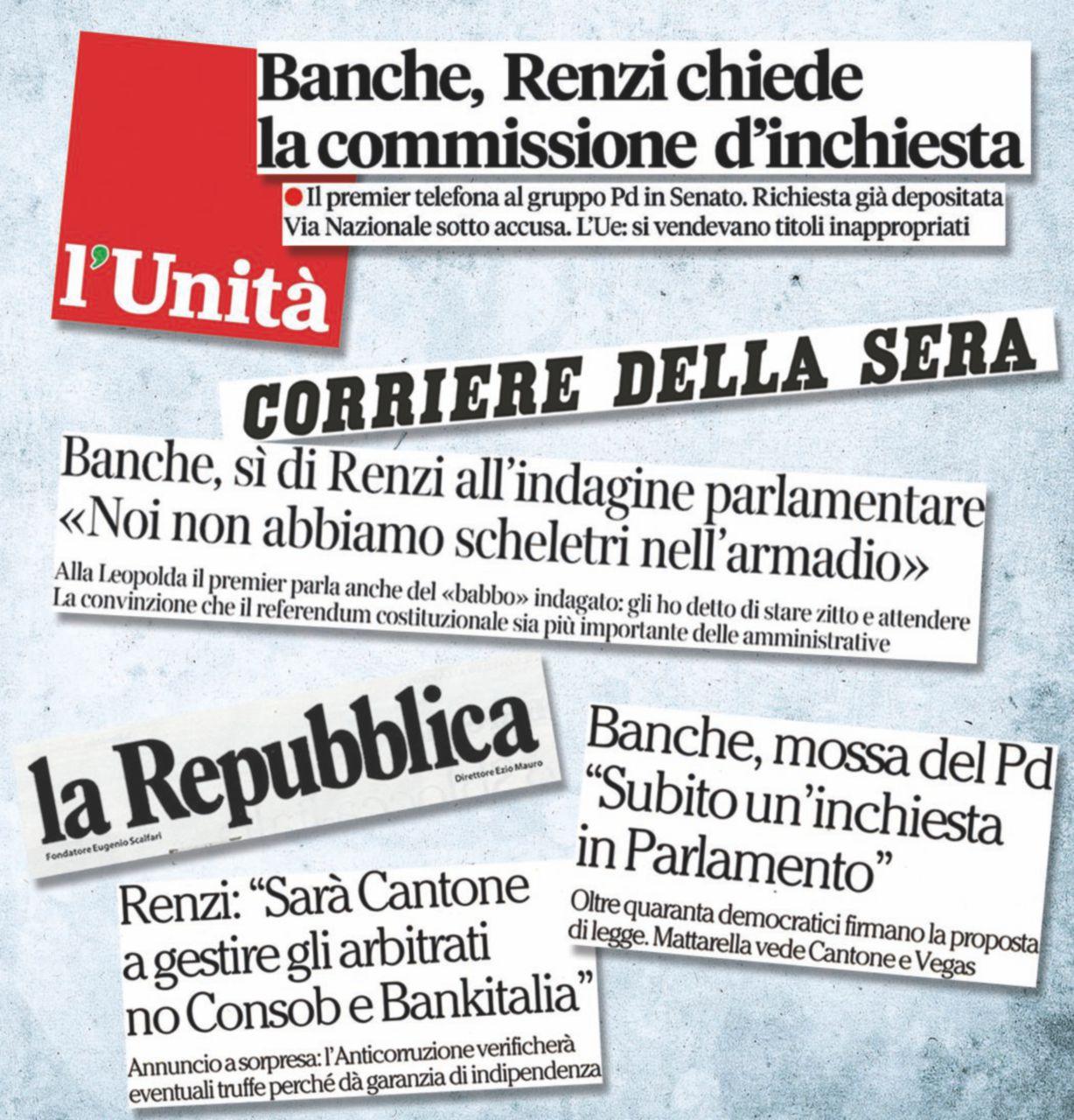 Etruria & C., carta elettorale di Renzi: risarcimenti a tutti