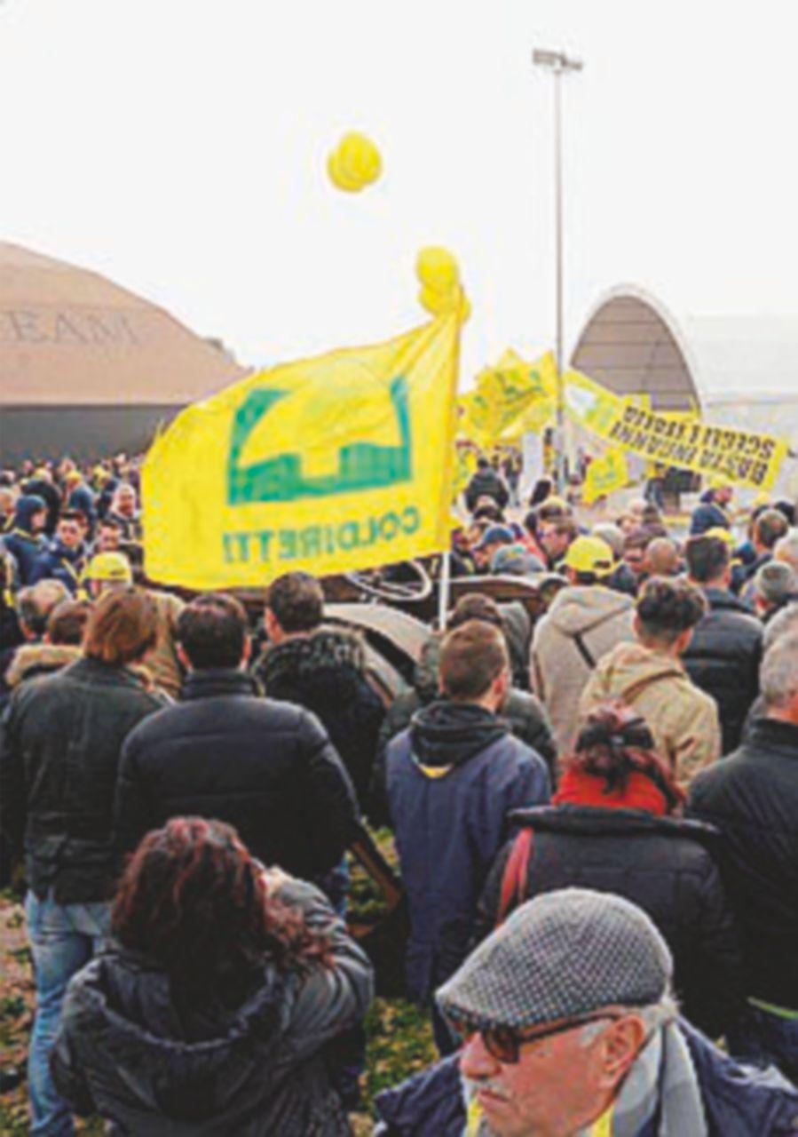 Protesta Coldiretti  a Torino: spariti  il 15% dei campi