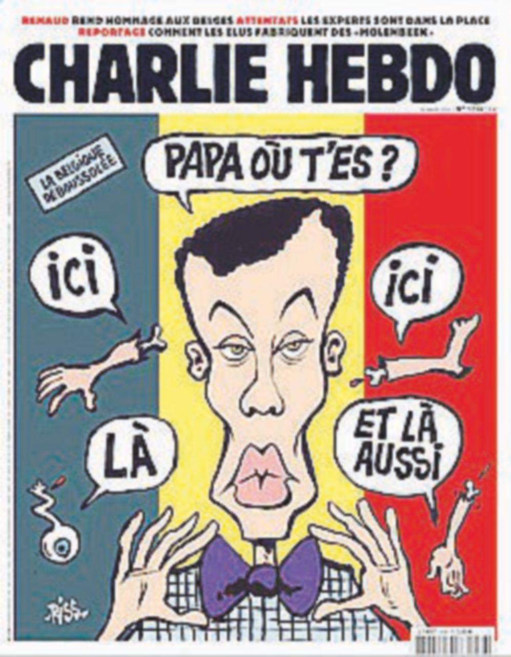 Charlie, copertina dedicata al massacro di Bruxelles