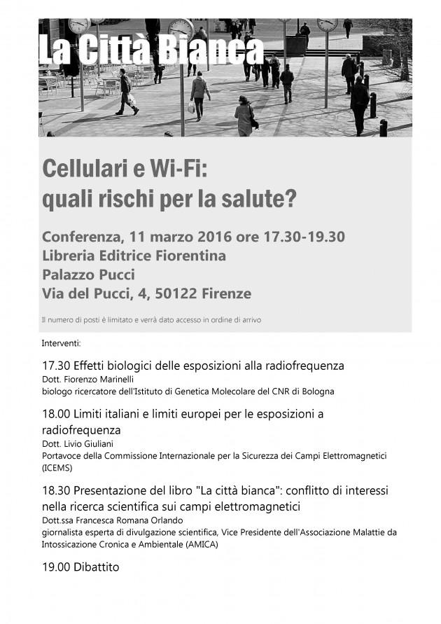 La Città Bianca 11 marzo Firenze