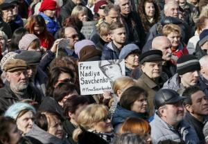 Ucraina, manifestazione a Kiev per liberazione di pilota Savchenko