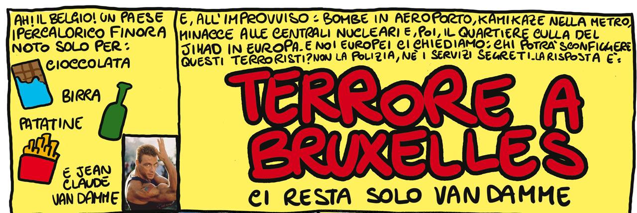 Terrore a Bruxelles. Ci resta solo Van Damme