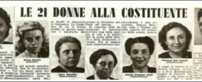 Camera mozione per celebrare il voto alle donne e le 21 for Deputate pd donne elenco