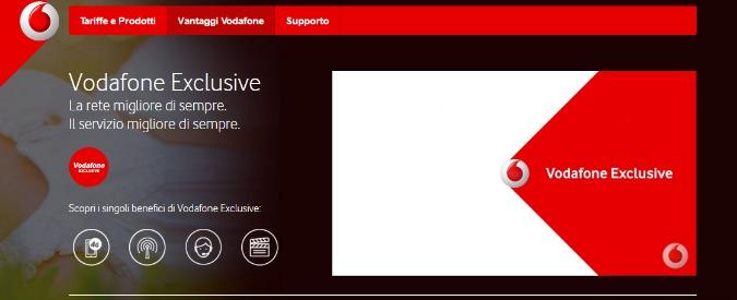 """Vodafone, multa di 1 milione dall'Antitrust per il servizio Exclusive. """"Attivato a pagamento senza consenso"""""""