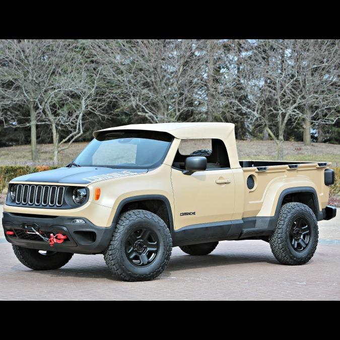 """Jeep Comanche concept, ecco la Renegade con la """"coda"""""""