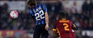 Roma Inter 1-1, Nainggolan recupera il vantaggio di Perisic. E i giallorossi rimangono a +5