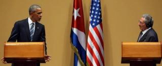 """Obama a Cuba, Castro: """"La revoca dell'embargo è essenziale"""". Il presidente Usa: """"Continuo a chiederlo al Congresso"""""""