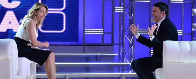 """Renzi da Barbara D'Urso: """"Con me presidente l'Italia non invaderà la Libia. Intervento solo se lo chiede un governo solido"""""""