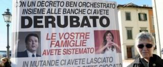 """Banca Etruria, consumatori: """"Dopo l'ennesima tegola giudiziaria governo non perda più tempo, risarcisca le vittime"""""""