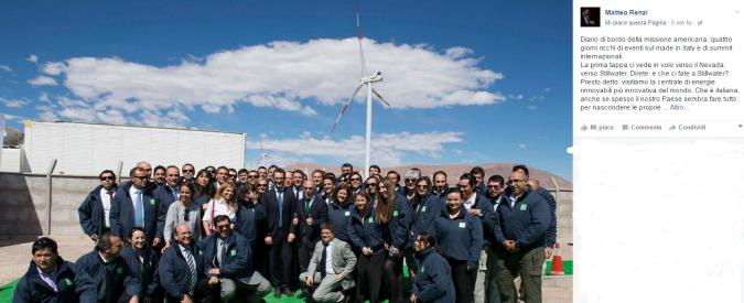 """Energie rinnovabili, Renzi: """"Dobbiamo ridurre dipendenza dai fossili"""". Greenpeace: """"Una gran faccia tosta"""""""
