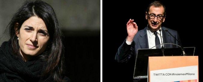 Sondaggi elettorali, tutte le sfide in bilico: a Roma avanti la Raggi (M5s), a Milano Sala (Pd) rischia