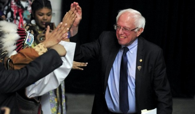 Usa 2016, comizio Bernie Sanders a  Washington