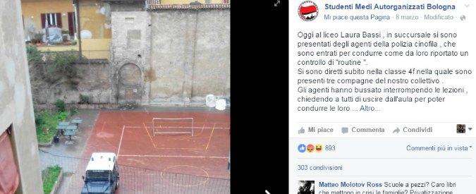 """Controlli antidroga a scuola, proteste di studenti e genitori a Bologna: """"Non è qui lo spaccio"""""""