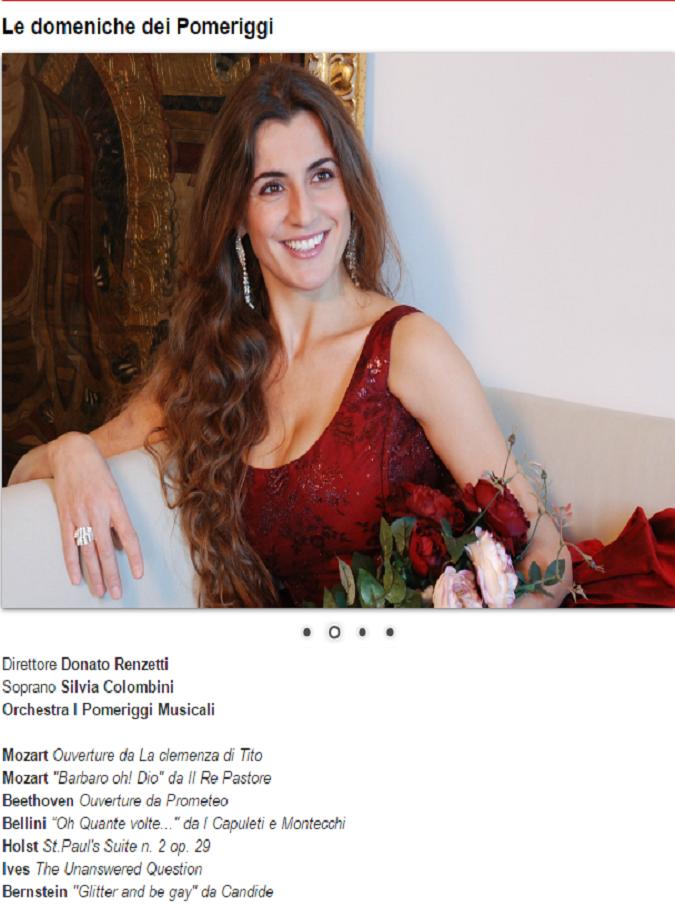 Pomeriggi musicali, Silvia Colombini riporta la lirica al Dal Verme di Milano