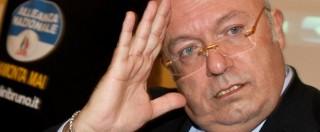 """Gianfranco Fini, il delicato commento di Storace: """"Coglione? Di più. Se non fosse reato gli consiglierei di spararsi"""""""
