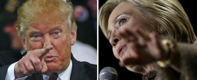 """Usa 2016, sondaggio Reuters/Ipsos: """"E' testa a testa tra Trump e Clinton"""""""