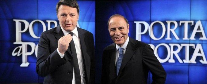 """Bruno Vespa: """"Renzi più cattivo di Berlusconi. L'editore della Rai è il governo"""""""
