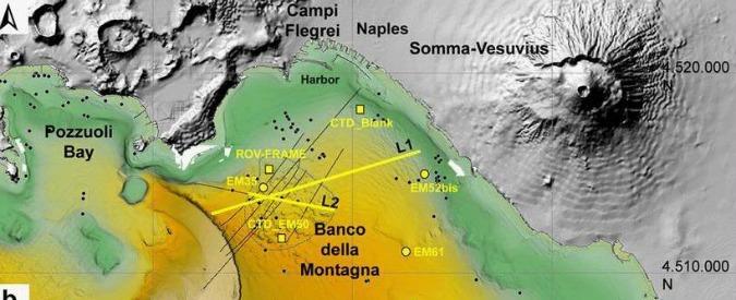 """Napoli, scoperto al centro del Golfo un 'duomo sottomarino': 35 emissioni di gas attive. Esperti: """"Per ora nessun pericolo"""""""