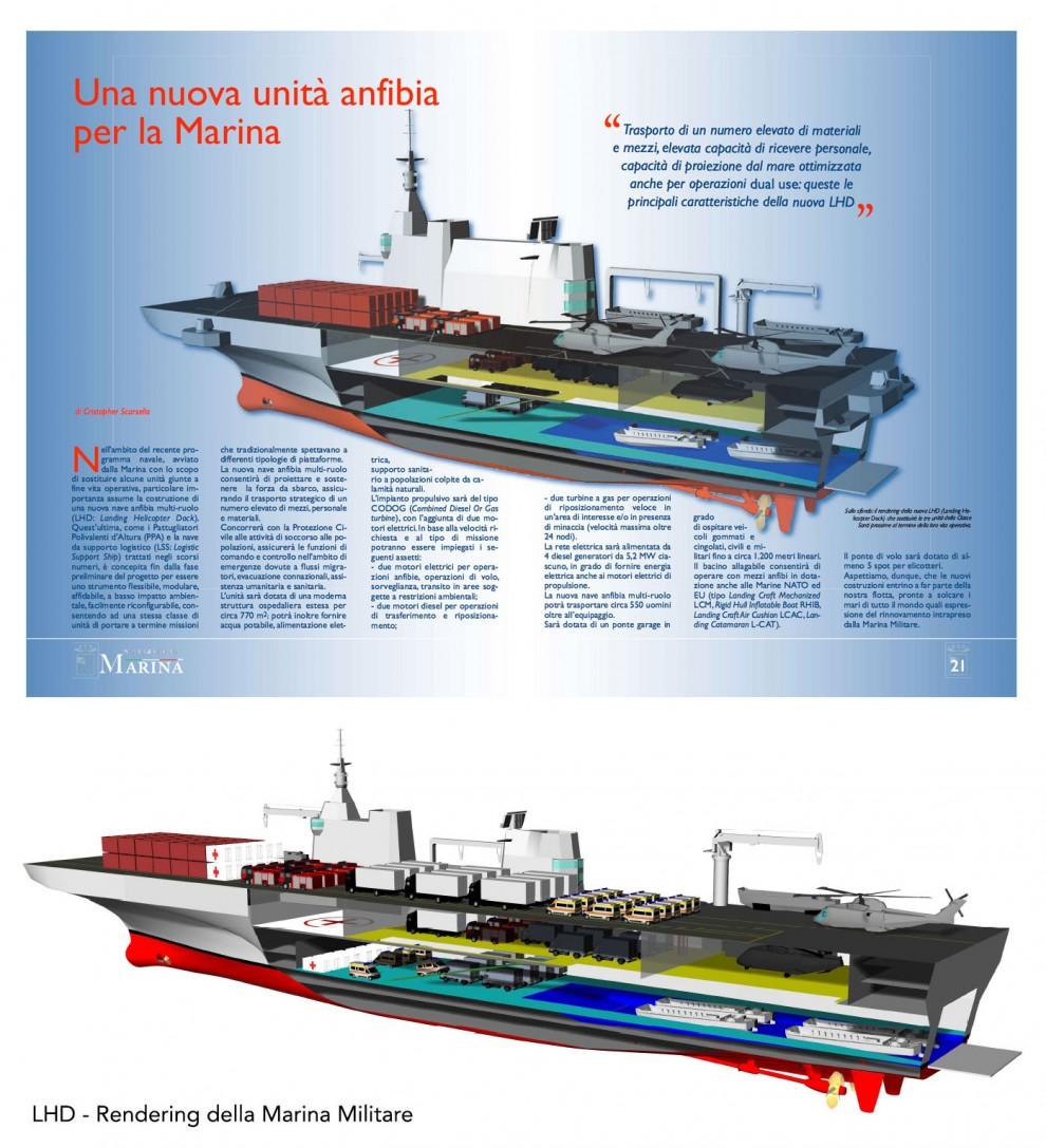 Marina militare la nave umanitaria si trasforma in - Nuova portaerei italiana trieste ...