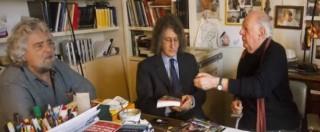"""Casaleggio, Grillo e i parlamentari M5s alla camera ardente. Dario Fo: """"Lavoro duro, ma il Movimento saprà risorgere"""""""