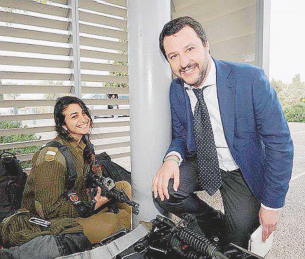 Salvini tra gli ultrà israeliani e Putin