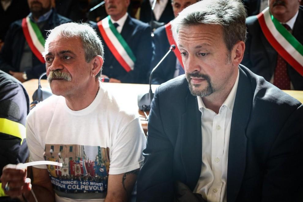 Loris Rispoli e Angelo Chessa, presidenti delle associazioni delle vittime. Loris ha perso la sorella Liana, che lavorava nella boutique di bordo. Angelo ha perso il padre Ugo, comandante del Moby