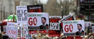 """Panama papers, in migliaia a Londra contro Cameron: """"Dimettiti"""". Lui: """"E' colpa mia"""""""