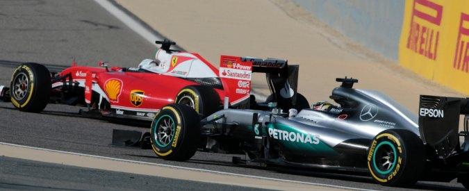 Formula 1, griglia di partenza in Bahrain: pole per Hamilton, Ferrari in seconda fila. Botta e risposta Ecclestone-Vettel