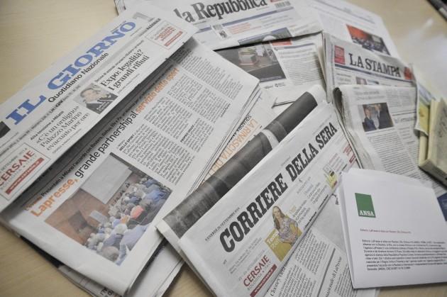 I giornali italiani raccontano sulle loro pagine le nuove partnership di LaPresse con Reuters, Efe, Pa e Xinhua