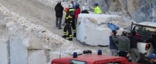 """Incidente cave Carrara, 6 morti in 2 anni. I sindacati: """"E' come un bollettino di guerra, le sanzioni non bastano"""""""