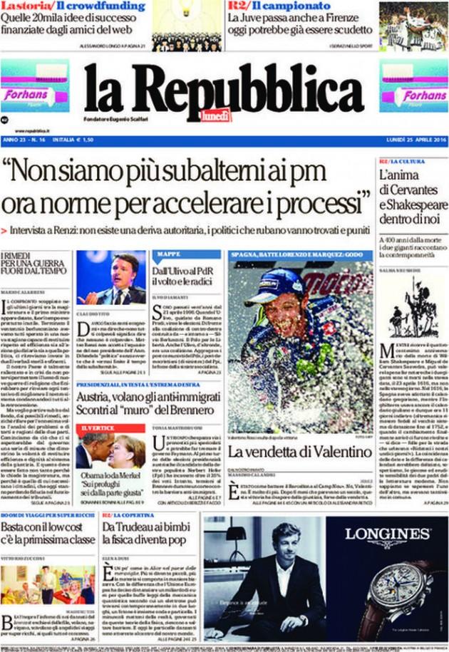 La Repubblica It Nel 2019: 25 Aprile, La Repubblica Lo Dimentica E Conferma La Sua