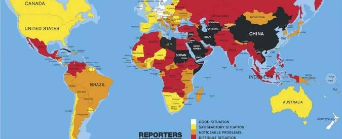 """Libertà di stampa, Italia scende al 77esimo posto. """"Livello di violenza allarmante e ingerenze del Vaticano"""""""