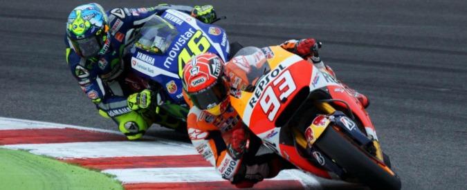MotoGp Argentina, vince Marquez. Valentino Rossi secondo grazie all'incidente tra le due Ducati