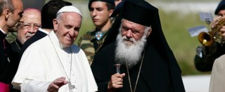 """Migranti, Papa Francesco e la Chiesa Ortodossa: """"Estendere asilo temporaneo, concedere status di rifugiato a chi serve"""""""