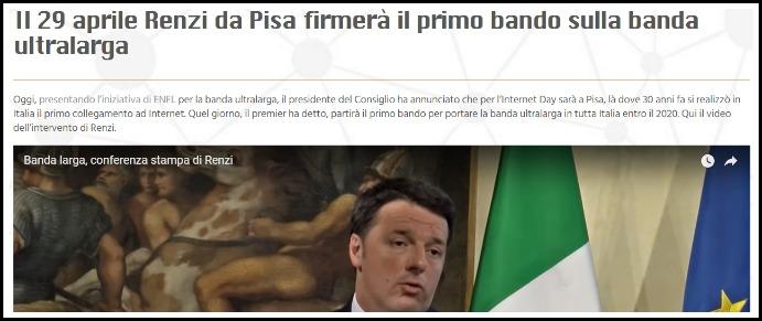 Banda larga, arriva l'Internet day ma del bando per la fibra promesso da Renzi non c'è traccia. Servono almeno 30 giorni