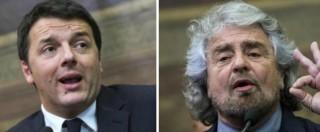 """Consip, Grillo attacca Renzi: """"Doppia condanna per il padre se colpevole? Lo ha rottamato"""". Lui: """"Sciacallo"""""""