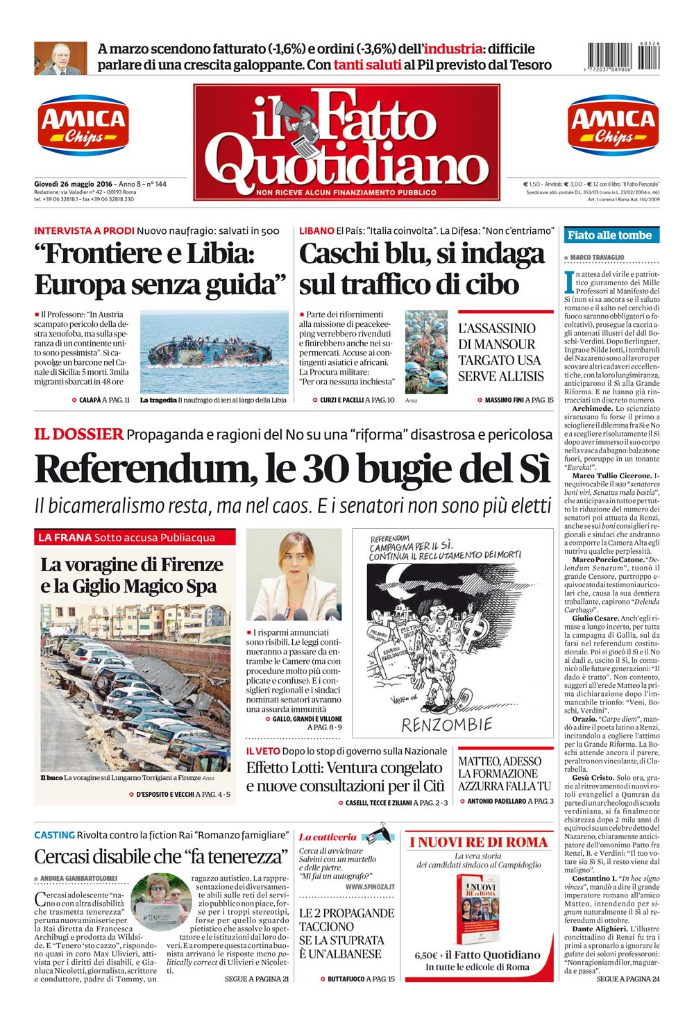 Referendum le 30 bugie del s il fatto quotidiano for Mail senatori