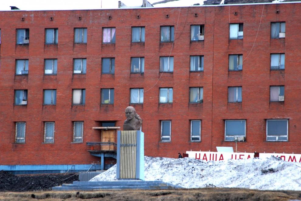 Barentsburg, il busto di Lenin