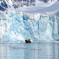 Una parete di ghiaccio nel Magdalenefjord
