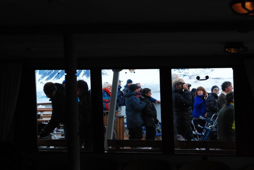 In osservazione dalla nave