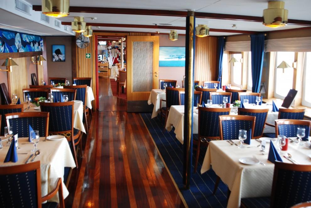 """La sala da pranzo della """"Nordstjernen"""""""