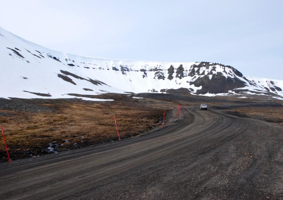 Una strada a Ny-Alesund