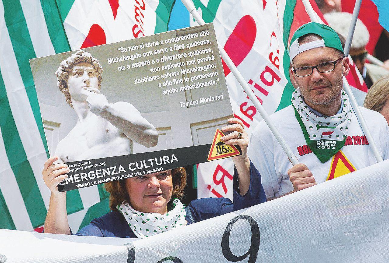 La Cultura scende in piazza contro Renzi e Franceschini