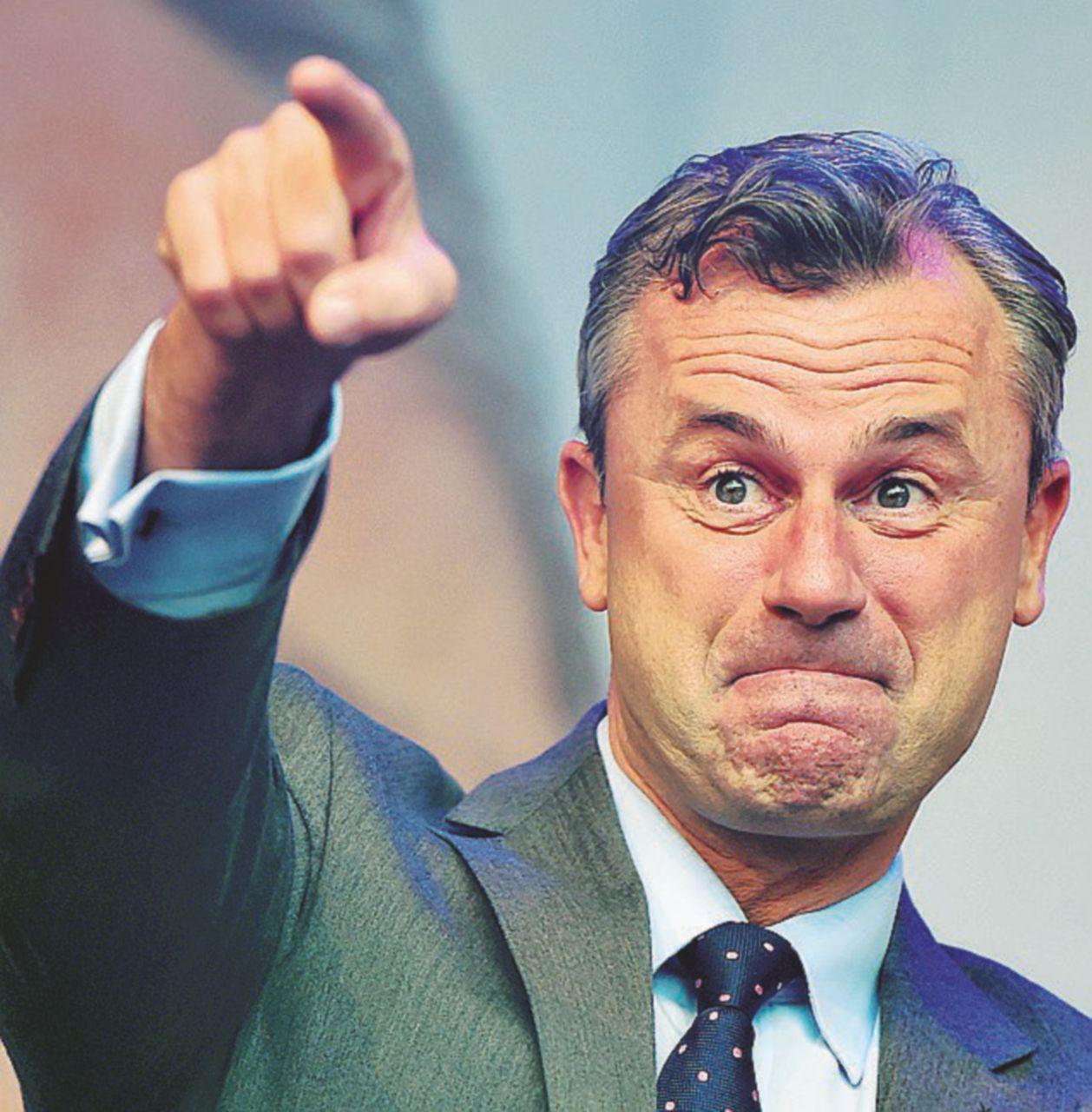 Il leader Fpö: euroscettico a mano armata