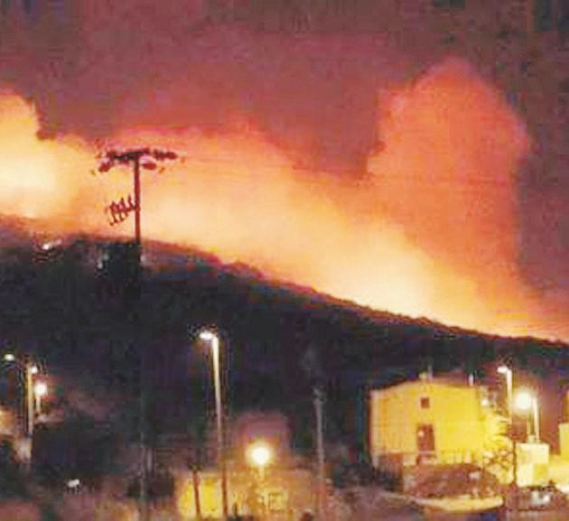 L'incendio  - Una delle foto diffuse dal Comune di Pantelleria  - Ansa