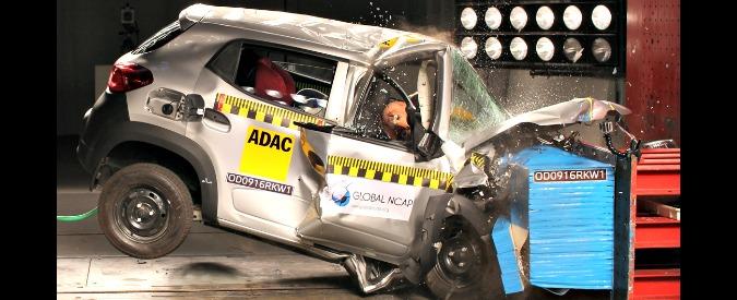 Crash test indiani, è allarme: cinque auto con zero stelle. Ecco tutte le bocciature di GlobalNCAP – VIDEO