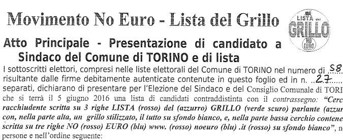"""Elezioni Torino, spunta """"Lista del Grillo"""". M5S: """"Falsa, ricorso al Tar per bloccarla"""""""