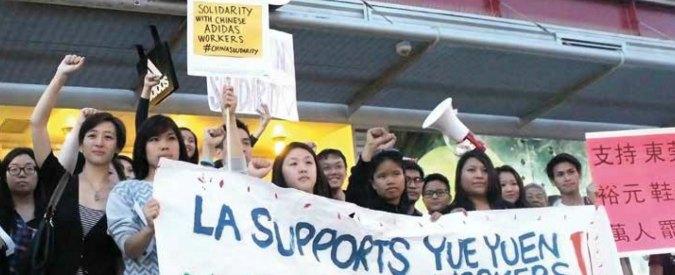 """Cina, """"nell'industria del cuoio paghe da fame, sicurezza a rischio, scioperi repressi. Coinvolte Adidas, Clarks ed Ecco"""""""