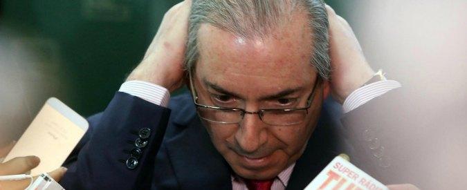 """Brasile, il grande accusatore della Rousseff sospeso dalla Camera. """"Tentò di condizionare indagini per tangenti"""""""